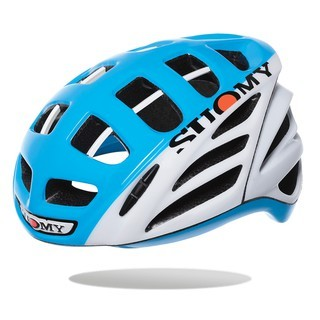 SUOMY GW HV WHITE/YELLOW HELMET 一級公路安全帽 亮藍白