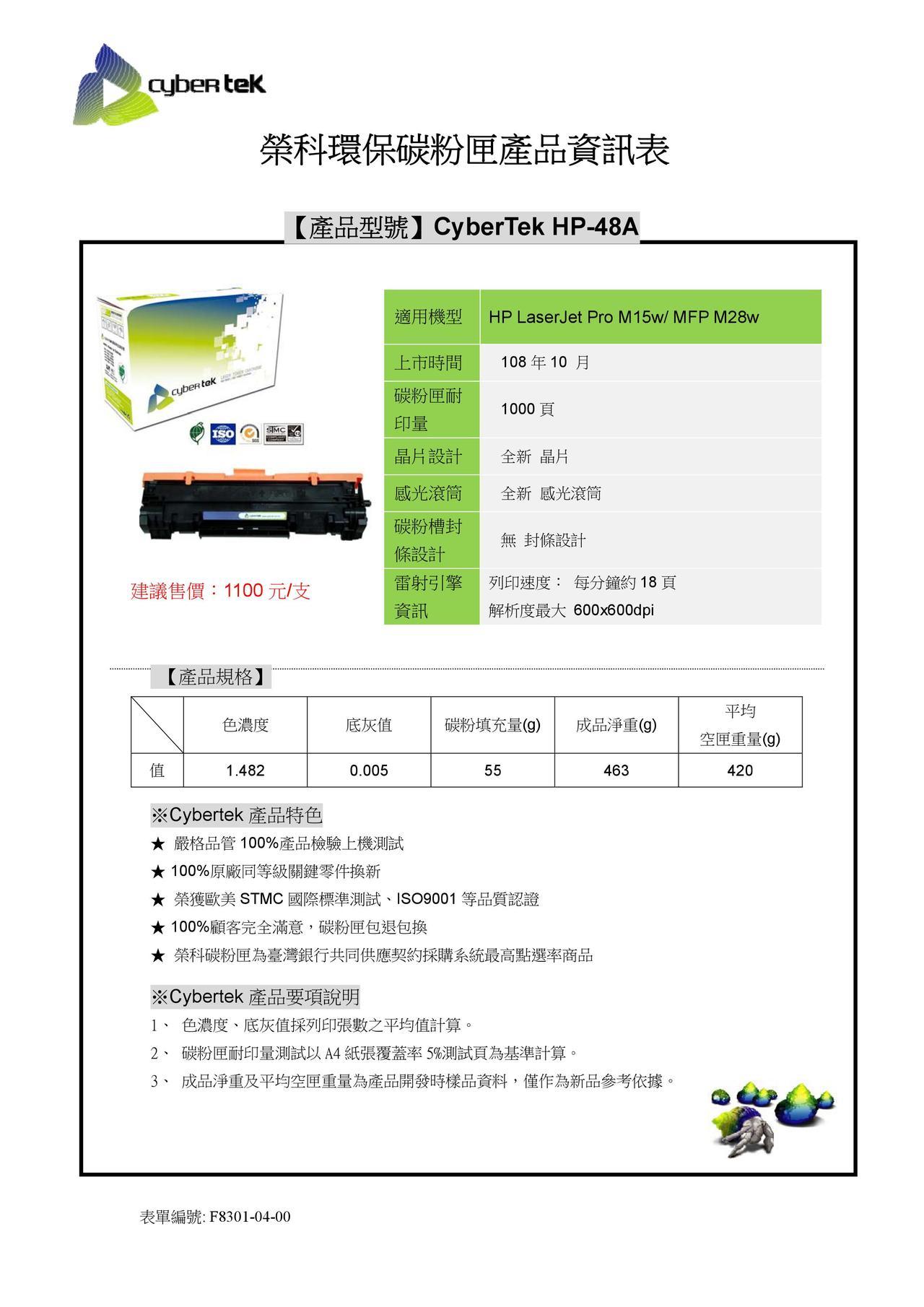 榮科HP-48A (HP CF248A)